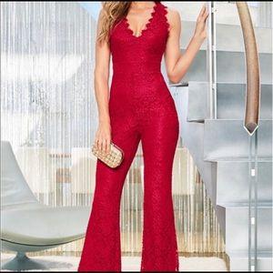 XS Venus Red Lace Jumpsuit 🔥🔥❤️